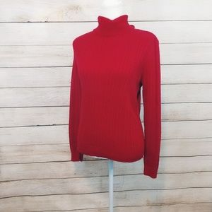 Perfect Condition Izod Red Turtle neck Size Large